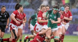 Wales women lost to Ireland in atrocious conditions in Donnybrook. Photo: Dan Sheridan/Inpho