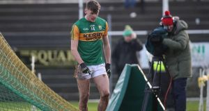 Kerry's David Clifford after he was  sent off against Tyrone. Photograph: Bryan Keane/Inpho