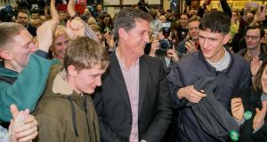 Green Party leader Eamon Ryan at the RDS count Centre Dublin. Photograph: Gareth Chaney/Collins