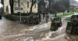 A photograph of flooding from Hawes, North Yorkshire in the UK on Sunday. Photograph: Thomas Beresford/PA