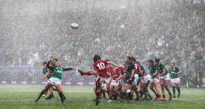 Ireland's Kathryn Dane in action during Sunday's win over Wales. Photograph: Dan Sheridan/Inpho