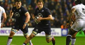 Jonny Gray has been ruled out of the rest of the Six Nations. Photograph: Paul Ellis/Getty/AFP
