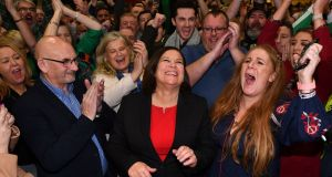 The beneficiaries of the decline in support for the traditional Big Two were clearly Sinn Féin and, to a lesser extent, the Greens and Social Democrats. Photograph: Ben Stansall via Getty Images
