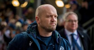 Gregor Townsend has released a statement in response to a newspaper interview given by Finn Russell. Photograph: EPA/STR