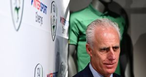 Mick McCarthy is confident Ireland will reach Euro 2020 providing they can beat Slovakia in their play-off semi-final. Photograph: Stephen McCarthy/Sportsfile