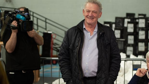 Independent Peter Casey at the count centre in Letterkenny, Co Donegal. Photograph: Joe Dunne Photography