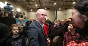 Fianna Fáil TD Stephen Donnelly, elected  in the Wicklow Count Centre, Greystones.  Photograph: Nick Bradshaw