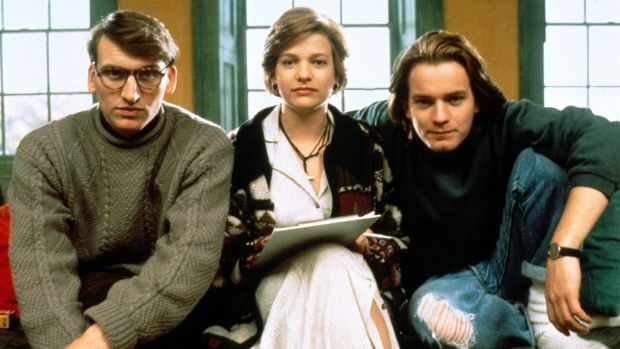 Eccleston with Kerry Fox and Ewan McGregor in Shallow Grave. Photograph: Channel 4