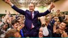 Micheál Martin of Fianna Fáil after being elected to the 33rd Dáil for the Cork South-Central constituency. Photograph: Jeff J Mitchell/Getty Images