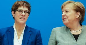 Annegret Kramp-Karrenbauer has had a torrid time since becoming Angela Merkel's anointed successor 14 months ago. Photograph:  Markus Schreiber/AP
