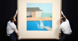 David Hockney's The Splash which sold for £23.1m (€27.4m) at Sotheby's in London.