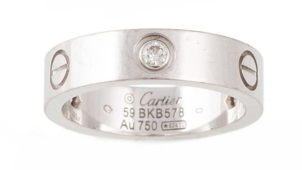 Lot 276, Cartier love ring set with diamonds (€2,000–€2,500) at O'Reilly's
