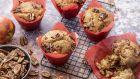 Apple and pecan muffins: a hearty treat for the winter months. Photograph: Harry Weir Photography