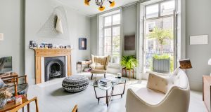 The living room of Barbara Behan's London home