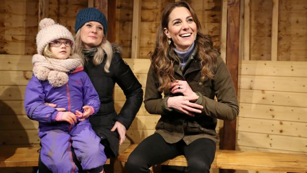 The Duchess of Cambridge during her visit to the Ark Open Farm. Photograph: Chris Jackson/Reuters