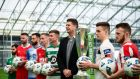 Niall Quinn at the launch of the 2020 League of Ireland season. Photograph: Stepen McCarthy/Sportsfile
