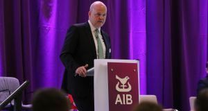 "Colin Hunt, AIB's chief executive. Sinn Féin's manifesto says it will ""keep the State's 71 per cent ownership of AIB ensuring that the State remains an important player in the banking sector"""