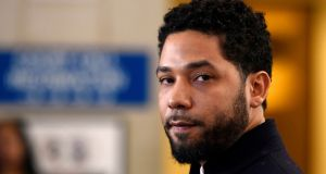 Prosecutors in March 2019 agreed to drop criminal charges against Jussie Smollett for apparently faking a hate crime attack in Chicago. File photograph: AP Photo/Paul Beaty