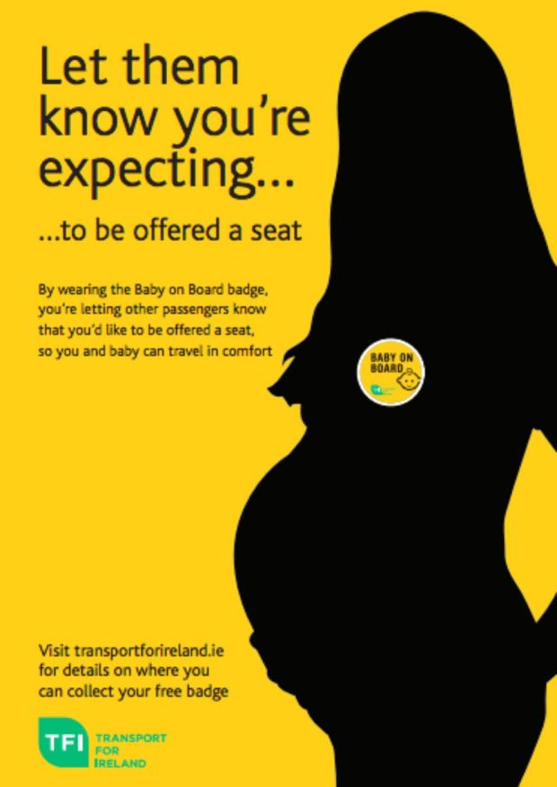 Transport for Ireland's 'Baby on Board' badge campaign poster