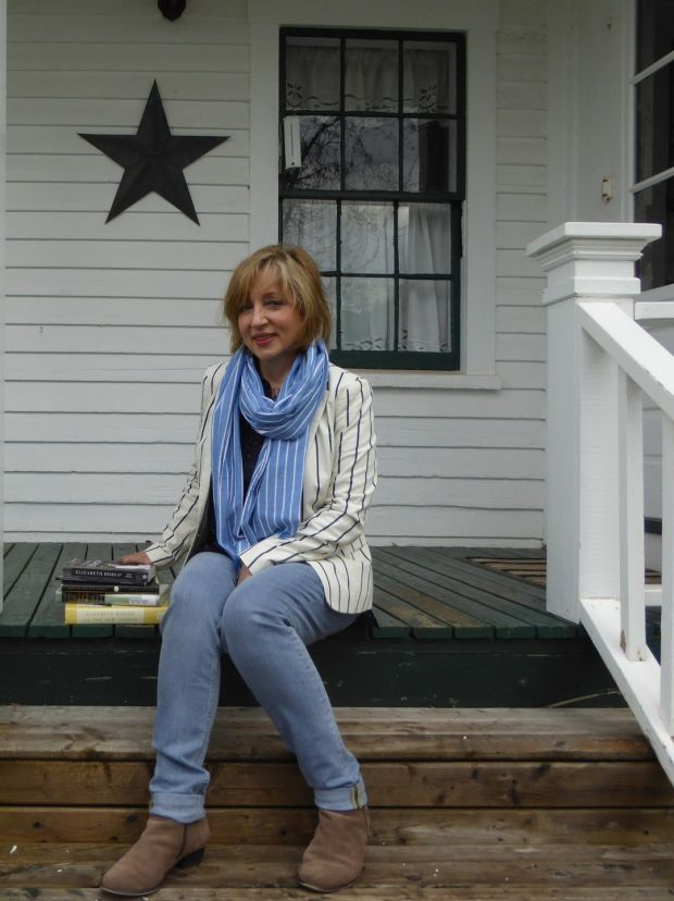 Anne-Marie Fyfe at the home of fellow poet Elizabeth Bishop