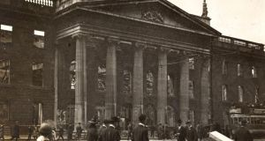 The GPO on O'Connell Street during the Easter Rising. File photograph: The Board of Trinity College Dublin