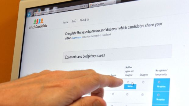 Whichcandidate.ie is run on a not-for-profit basis by Rory Costello of the University of Limerick. It helps users identify which candidate in their area aligns to their views. Photograph: Alan Betson/The Irish Times