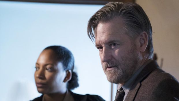 Natalie Paul and Bill Pullman in The Sinner