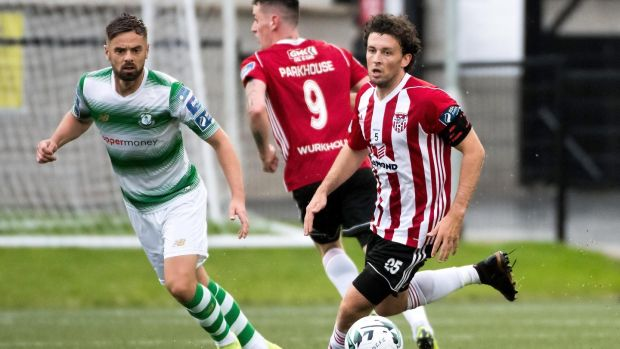 Barry McNamee has made the switch from Derry to Finn Harps. Photograph: Evan Logan/Inpho