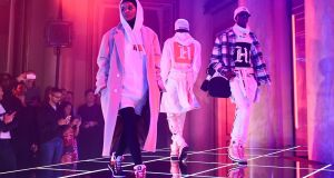 TommyXLewis, a collaboration with the brand Tommy Hilfiger and Formula 1 racing driver Lewis Hamilton, is expected to be one of the highlights of London Fashion Week. Photograph: Miguel Medina/AFP/Getty Images