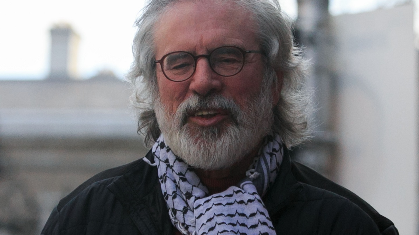 Miriam Lord:  A very strange situation, including Gerry Adams, his PLO scarf and Bee-Gees hair