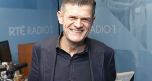 Brendan O'Connor pictured in RTÉ Radio 1 studios. Photograph: Kinlan Photography.