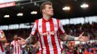 James McClean injured a medial ligament during Stoke's game against Preston North End on Wednesday. Photograph:   Gareth Copley/Getty Images