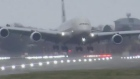 Storm Dennis: A380 pilot battles powerful Heathrow crosswinds