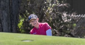Stephanie Meadow pitches up to the first green during day four of the 2020 ISPS HANDA Women's Australian Open at Royal Adelaide Golf Club. Photo: Sue McKay/Getty Images