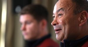 Eddie Jones: might have his tongue in his cheek when dishing out a few insults but presuming everyone is in on the joke is a big presumption. Photograph:   David Rogers/Getty Images