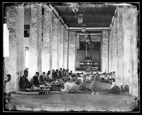 An offering of lunch to Buddhist monks