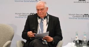 High representative of the European Union for foreign affairs and security policy Josep Borrell: has compared Israel's annexations to Russia's actions in Crimea. Photograph:  Christof Stache