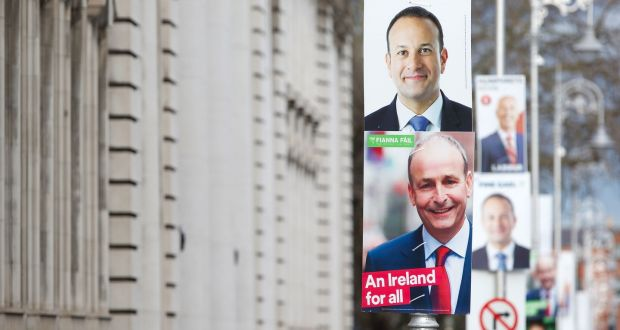 Election posters in Dublin. Photograph:  Damien Eagers/PA