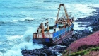 Storm Dennis washes abandoned 'ghost ship' onto rocks off Co Cork