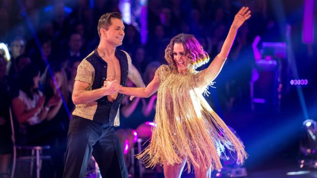 Pasha Kovalev and Caroline Flack on the live show of the BBC programme Strictly Come Dancing. File photograph: Guy Levy/BBC/PA Wire