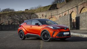 The Toyota C-HR, which starts at €30,620, offers stylish looks and a premium finish
