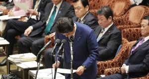 Japan's prime minister Shinzo Abe's government has already launched a fresh fiscal stimulus to take effect this year, offering some support to demand but making it difficult to add any further spending or tax cuts in the short term. Photograph: Getty Images