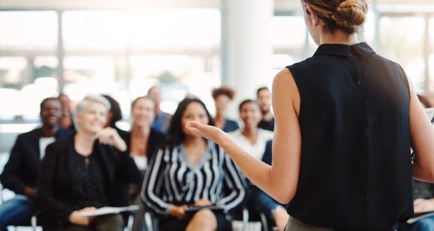 Smooth-talking presenters are rarely born that way. Most acquire the skill over time. File photograph: iStock/Getty Images