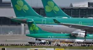 Gardaí are investigating the suspected theft of Aer Lingus jet fuel at Dublin Airport. File photograph: Artur Widak/PA Wire