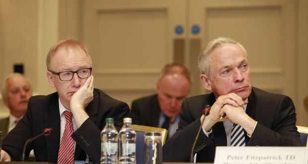 Then Senator Frank Feighan (left) and Richard Bruton TD attend a British Irish Parliamentary Assembly  meeting in Wicklow last year. Photograph: Nick Bradshaw/The Irish Times