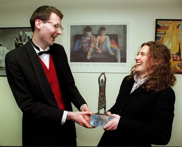 Paul Anthony Mc Dermott And Helen Boyle from the Kings Inns, finalists in The Irish Times Debate final 1996 Photograph: Alan Betson