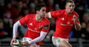 Joey Carbery: has endured a nightmare season with Munster due to injuries. Photograph: Bryan Keane/Inpho