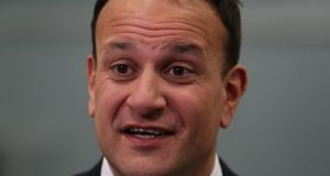 Leo Varadkar: In the Virgin TV debate he decided to wrong-foot Micheál Martin by making him an unexpected offer of Fine Gael support for a Fianna Fáil-led government. Photograph:   Liam McBurney/PA