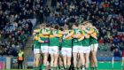 "Kerry players form a huddle at Croke Park.  ""The combined cost of preparing and fielding senior inter-county teams for the 32 counties came to €29.74 million in 2019,"" according to director general Tom Ryan. Photograph: Billy Keane/Inpho"