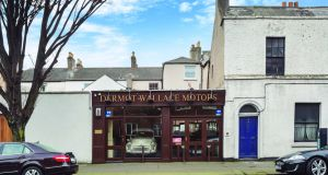 The Dermot Wallace Motors showroom at 12 Sussex Road
